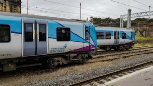 2 TransPennine Express Class 350 trains stabled at Carlisle