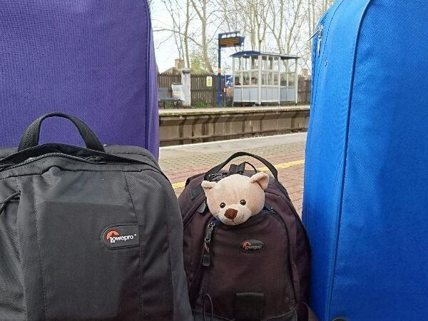 Ted all packed up and ready to leave on his tedontourusa epic trip