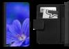 Blue Geranium flower picture on mobile phone flip case