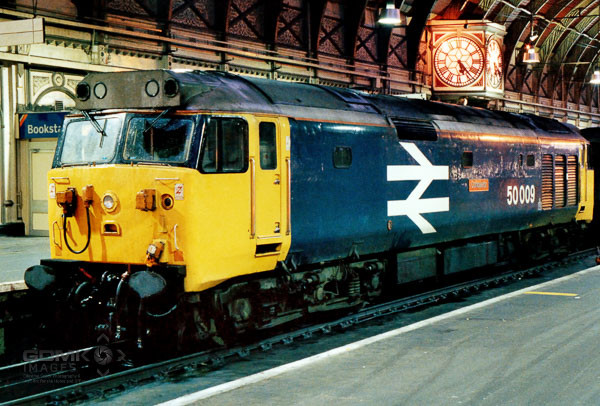 English Electric Class 50 50009 Conqueror at London Paddington railway station