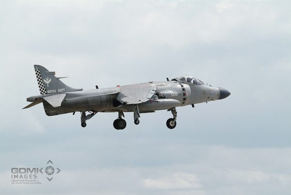Sea Harrier Aeroplane Hovering