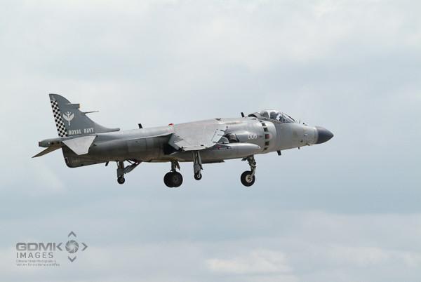 Sea Harrier Aeroplane Hovering