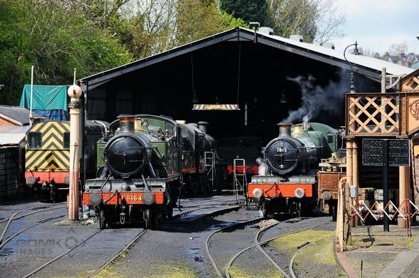 Great Western Railway Steam Locos on Bridgnorth Shed