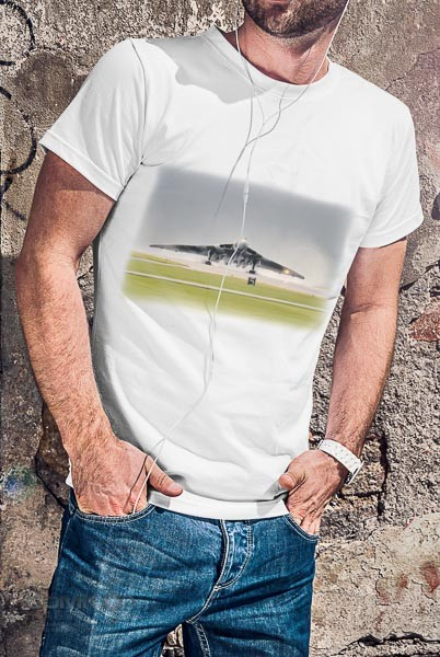 Vulcan bomber digital art design on a white adults t shirt