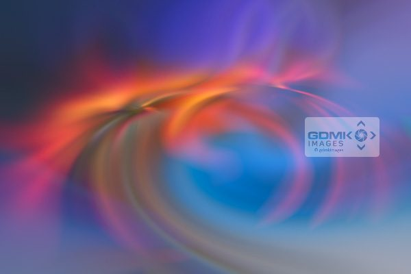 Swirling colours in a digital art cosmic aurora