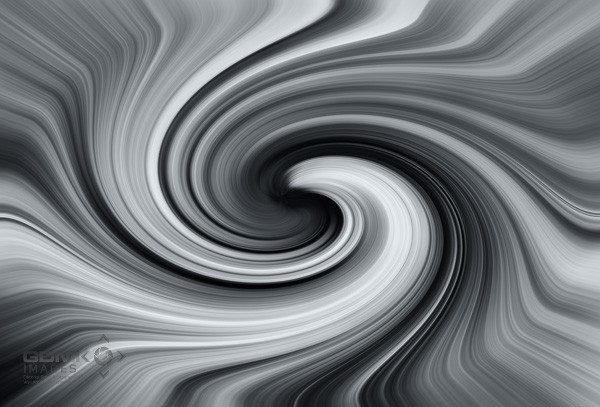 Swirling black and white Vortex Digital Art