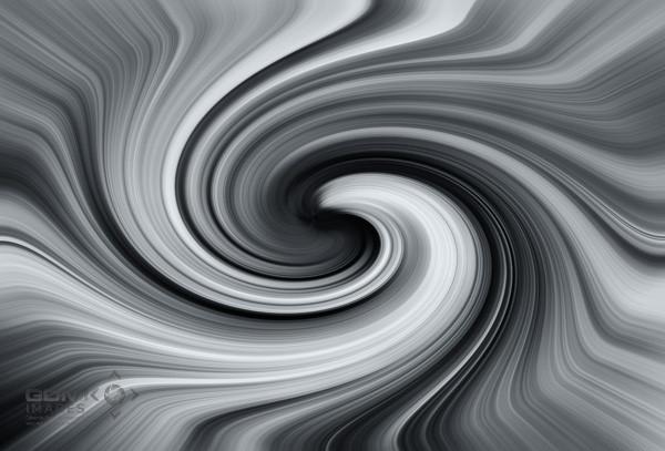 Swirling black and white Vortex Digital Art