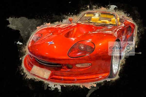 Digital Art picture of a Red Marcos Mantis