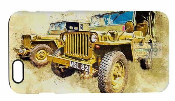 WW2 Willys Jeep Digital Painting iPhone 6 Mobile Phone Case
