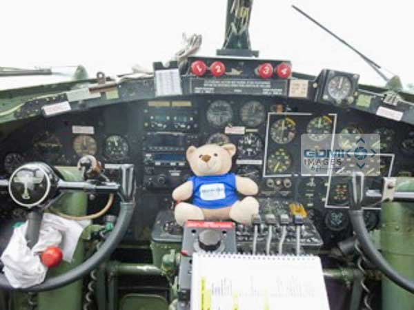 Ted gets to grips at the business end with Sally B at Flying Legends