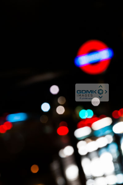 Abstract lights in London at night