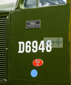 Cabside plaques on the side of the Growler Groups newly restored Class 37 D6948 ex 37248 at Toddington
