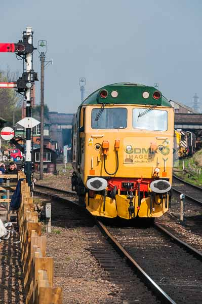 Class 50 diesel loco at Loughborough on the Great Central Railway