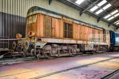 Ex CFD operated Class 20 numbered 2001 which was 20035 for British Rail undergoing component recovery prior to being scrapped
