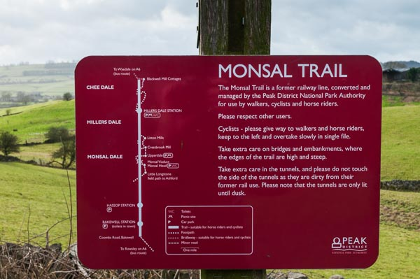 Information sign on the Monsal Trail