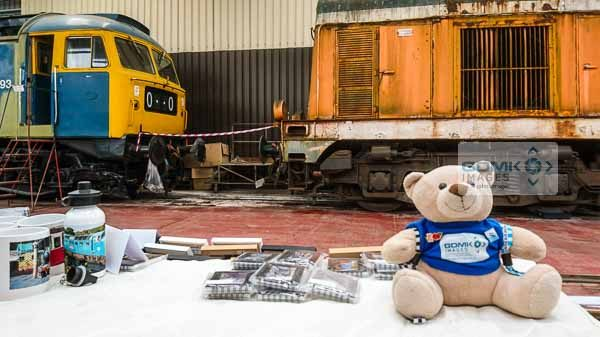 Ted on the GDMK Images stall inside the diesel shed at Toddington on the Gloucestershire Warwickshire Steam Railway