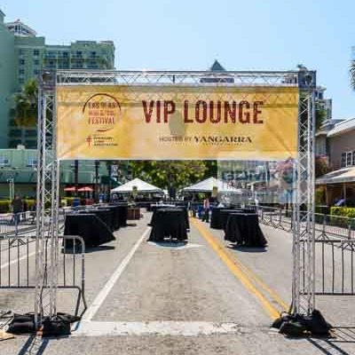 VIP Lounge at the 2016 Las Olas Wine and Food Festival under construction in Fort Lauderdale