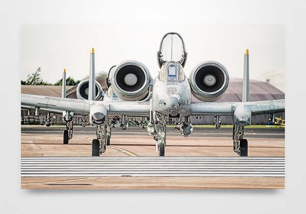 2 USAF A10 Tankbuster aircraft Wall Art Picture