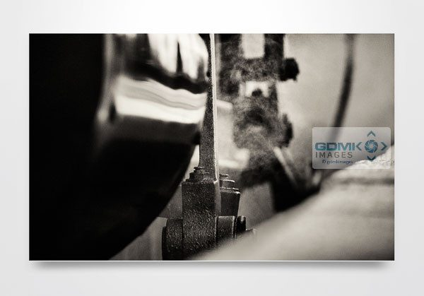 Abstract close up of steam train Wall Art Print