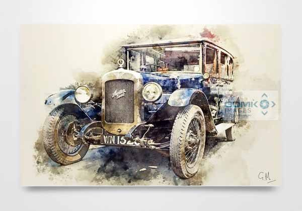 Austin 16 Classic Car Wall Art Picture