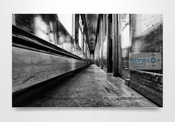 Black and White 1960s Railway Carriage Wall Art Picture