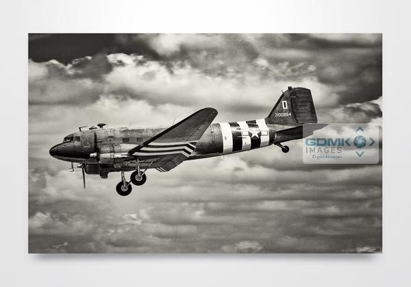 Black and White C47 Wall Art Print