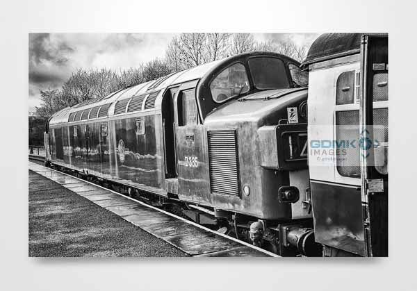 Black and White Class 40 D335 Wall Art Print