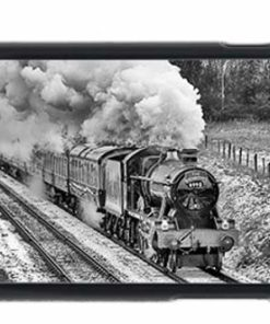 Black and White Witherslack Hall in the Snow Mobile Phone Case