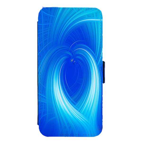 Blue Heart Digital Art Mobile Phone Case