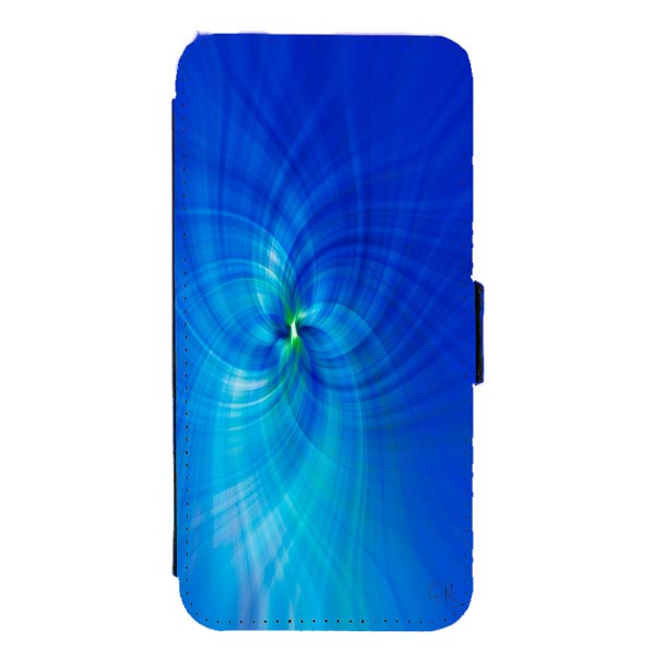 Blue into Green Digital Art Mobile Phone Case
