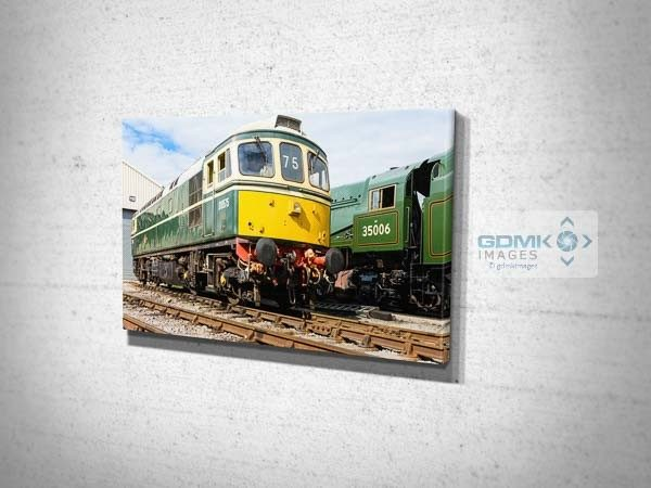 Class 33 and 35006 Canvas Wall Art Print