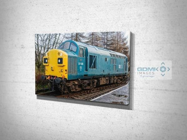 Class 37 37109 at Rawtenstall Canvas Print
