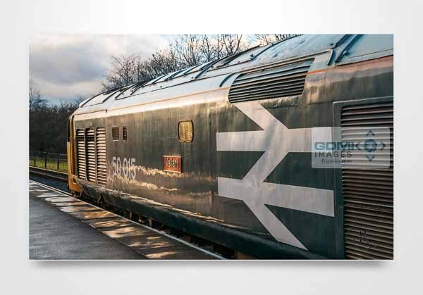 Class 50 50015 in Evening Light Wall Art Print