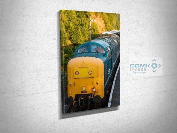 Class 55 55019 Evening Light Front View Canvas Wall Art Print