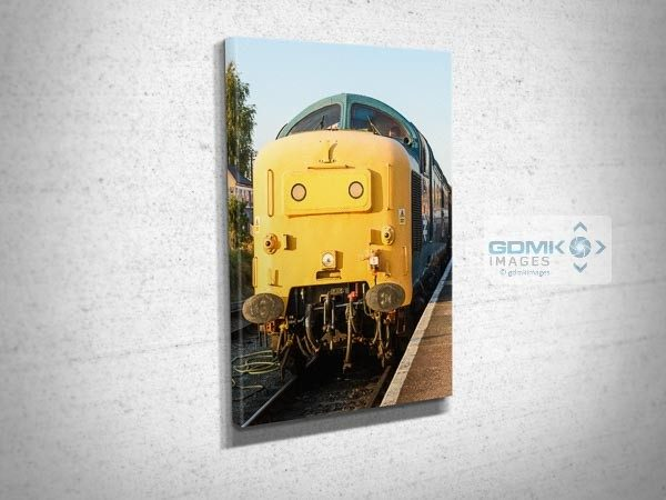 Class 55 55019 Front View Canvas Wall Art Print