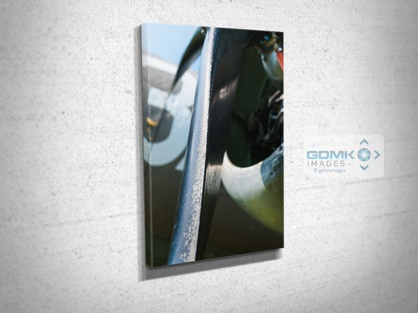 Closeup of USAAF C47 Propellor Blade Canvas Wall Print