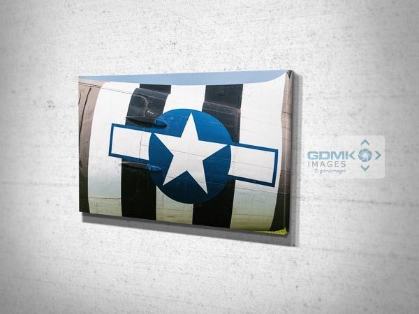 D Day Stripes on Side of C47 Canvas Art Print
