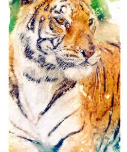 Digital Art Tiger Mobile Phone Case