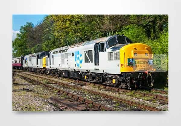 Double Headed Railfreight Class 37s Wall Art Print