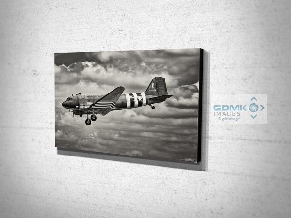Holding Black and White C47 Canvas Art Print