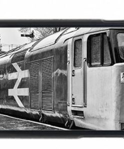 Black and White Class 50 loco 50015 Valiant Mobile Phone Case