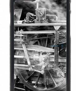 Black and White Steam Train Wheel Mobile Phone Case