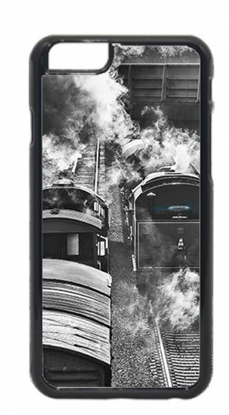 Black and white Steam Trains Passing Mobile Phone Case