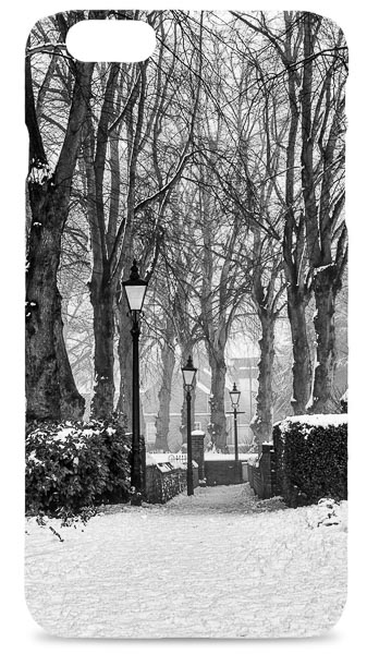 Black and White Winter Scene Mobile Phone Case