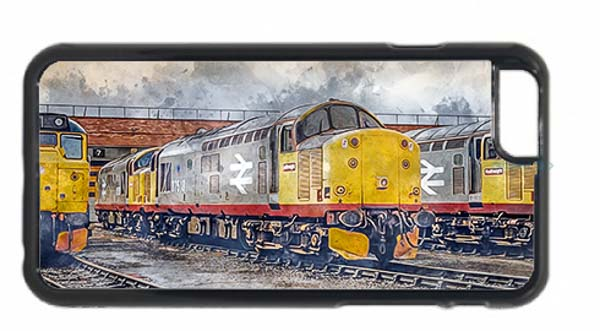 Class 37s on Thornaby Digital Painting Mobile Phone Case