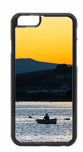 Rower on River Teign Mobile Phone Case