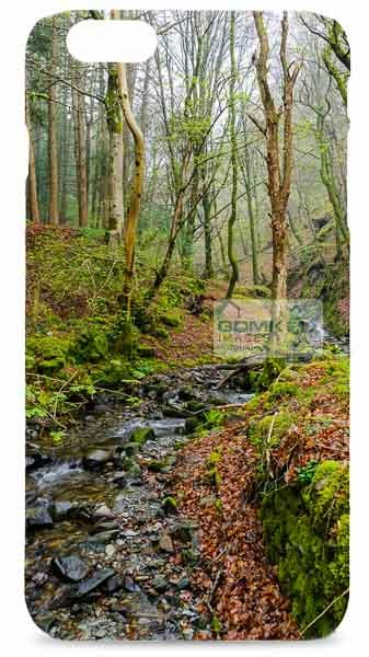 Stream in Misty Woods Mobile Phone Case
