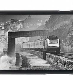 HST On Stormy Dawlish Sea Wall Mobile Phone Case