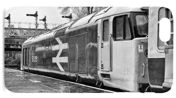 Black and White Class 50 Loco 50015 in the Rain Mobile Phone Case