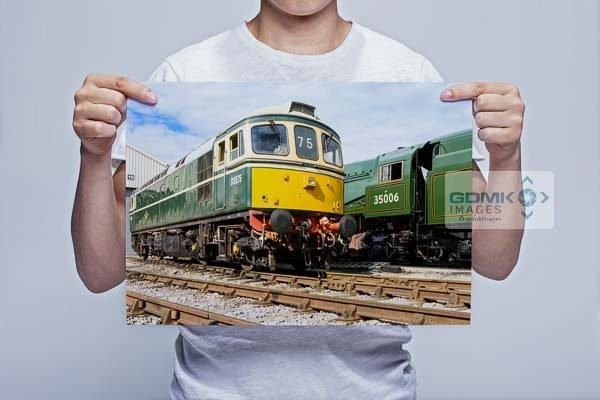Man Holding Class 33 and 35006 Wall Art Print